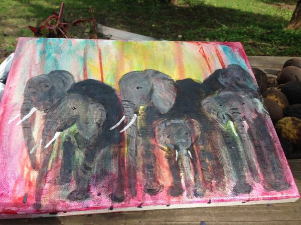 my elephant circle painting